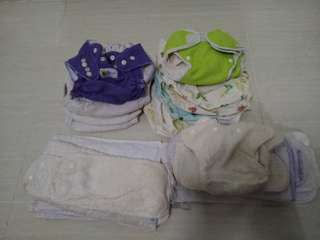 10 nos Reusable nappy covers + free 5 cloth diapers and 14 inserts
