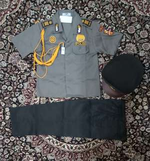 Setelan baju profesi anak POLISI / baju karnaval anak / baju anak lakilaki