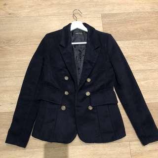 Brand New Korean Navy Gold Button Blazer Jacket Coat