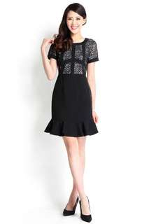 Profound Philosopher Dress In Lace Black