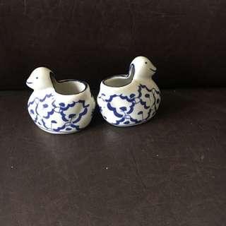 Sepasang Bebek Keramik
