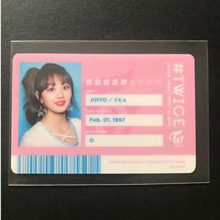 Twice Jihyo Japan Debut Official ID Photocard