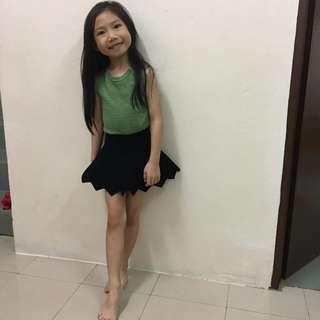 Girls Sleeveless Top + Skirt