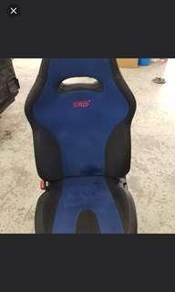 subaru sti gdb 2006 front pair blue seats & rear seats