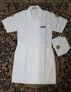 Setelan baju profesi anak PERAWAT / baju karnaval / baju anak perempuan
