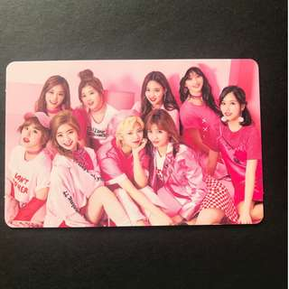 Twice Japan Debut Group Photocard