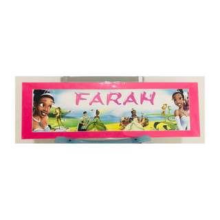 Name Signage - Farah