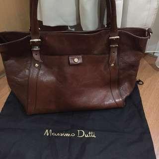 Massimo Dutti Leather Handbag