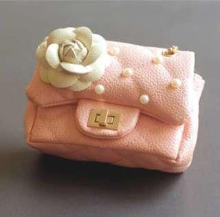 Camellia & Pearl Diamond Quilted Girl handbag