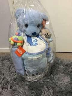 Baby boy gift basket present idea
