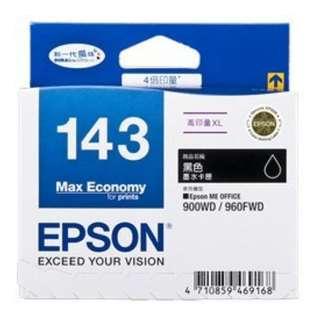 EPSON 143 原廠黑 ME900WD/ME960FWD/ME82WD/ME940FW/WF-3521