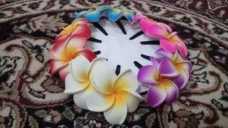 Jepit bunga kamboja ( 1Set isi 10pcs ) / jepit rambut / tari / tari tradisional / bunga kamboja