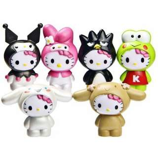 Hello Kitty 6pcs Collectible Figure