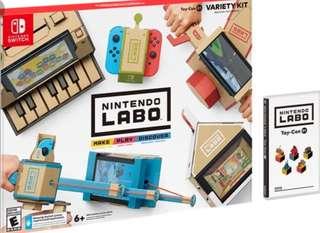 全新未開未拆* labo switch 5 合 1 labo variety kit 可以用指定遊戲换購