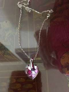 Necklace Swarovski heart crystal