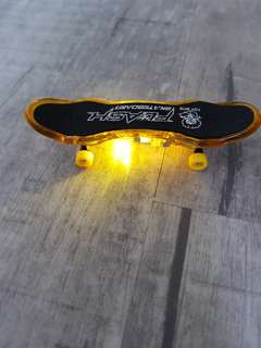 Mini skateboard.