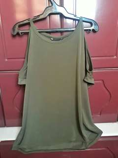 Army green blouse