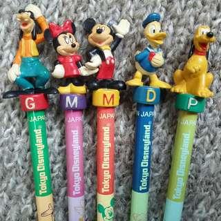70元5枝【罕】#日製#東京迪士尼#米奇老鼠#HB鉛筆 #Tokyo Disneyland#Mickey Mouse#HB Pencil