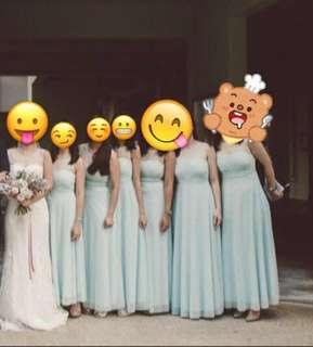 Bridesmaid Blue Dress! Negotiable!