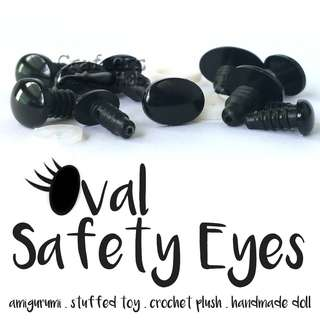 🚚 Oval Safety Eyes for amigurumi, stuffed toy, crochet plush, handmade doll, kids craft