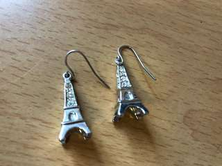 Eiffel Tower ear rings