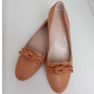 BALENCIAGA Ladies Flats Loafer Shoes Leather