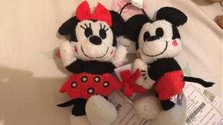 米奇米妮小型毛公仔 日本夾 mickey Minnie soft toy