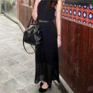 (Rental) Mphosis Classic Black Maxi Dress