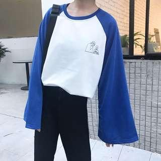 [PO] Raglan Wide Sleeves Pullover