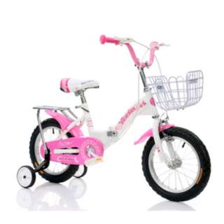 """kids foldable bike bicycle available 12"""" 14"""" 16"""" 18"""" 20"""" pink blue white red"""