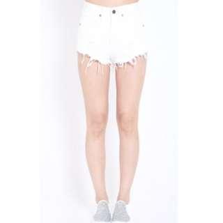 Ripped denim jeans (white)