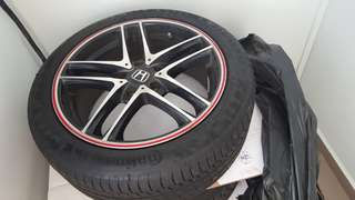 17 inch rims with tyres 5x114.3 Continental 225/45/17