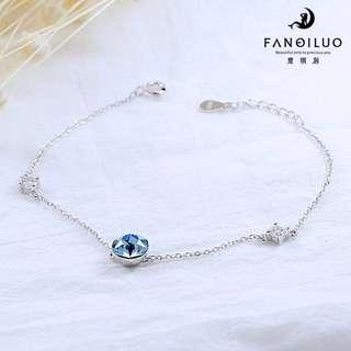 S925 Blue Crystal Bracelet