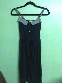 Grey and black dress