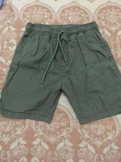 Boys Basic Shorts Olive Green