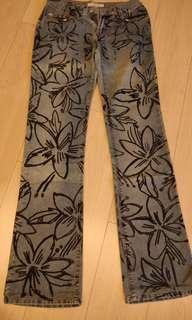 Miss Sixty flower pattern jeans size 25