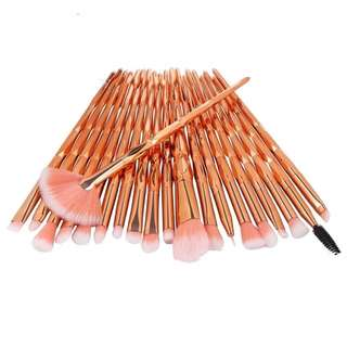 20pcs Unicorm Makeup Brush Rosegold