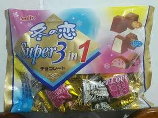 🚚 🇯🇵日本㍿冬之戀💘名糖 Meito 🗾超級3合1巧克力🍫促銷價159💰2018/11/19
