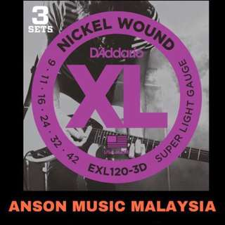 D'Addario EXL120-3D Nickel Wound, Super Light, 9-42