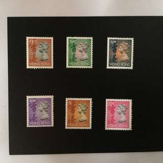 Hong Kong old stamps英女皇
