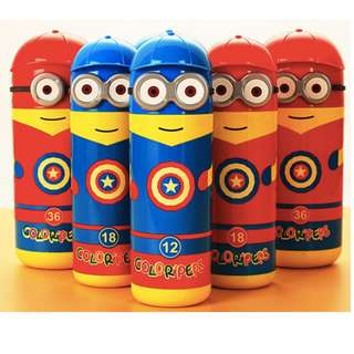 Captain America Minion Water colour markers set