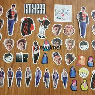 NCT 127 LIMITLESS RANDOM STICKERS AND MEMBER STICKER SHEETS (JOHNNY, HAECHAN)