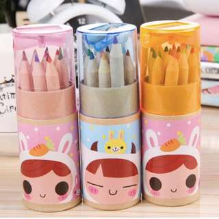 Dolls/Animals Colouring Pencil Set with Sharpener