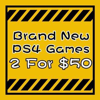 PS4 Games 2 For $50