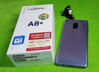 🚚 三星samsung A8 plus 紫(2018)(可舊機折抵貼換)