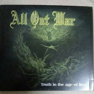 Music CD: All Out War–Truth In The Age Of Lies - Legendary U.S. Metallic Hardcore Band