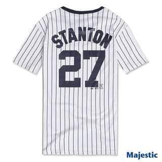 Stanton洋基隊MLB怪力男背號27號短T