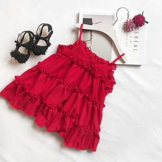 OFFER - 2018 New Design For Your Daughter Little Princess Dress in Red Size 80cm/90cm