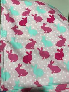Fabric with bunny prints