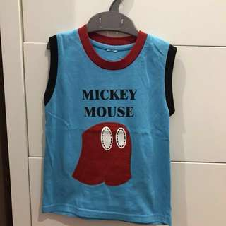Mickey Mouse sleeveless top